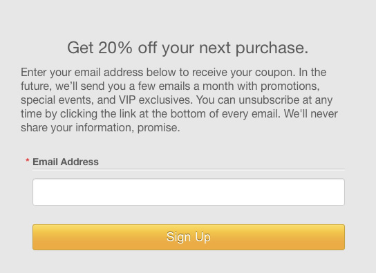 Email Marketing - signup form