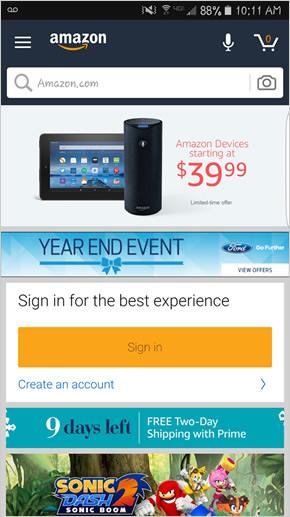eCommerce trends - Amazon