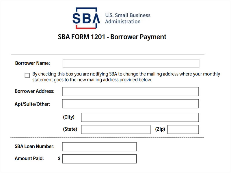 SBA Borrower Payment Form