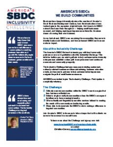 Inclusivity one-pager for SBDCs